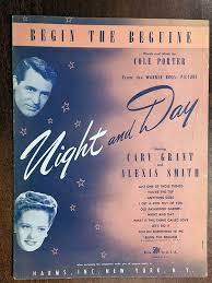 Amazon.com: BEGIN THE BEGUINE (1935 Cole Porter SHEET MUSIC) Excellent  condition, from film NIGHT AND DAY with Cary Grant (pictured):  Entertainment Collectibles