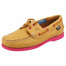 g2 womens tan pink leather boat shoes