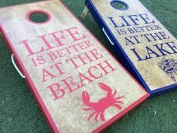Lake And Beach Life Cornhole Boards Cornhole Board Plans Cornhole Boards Cornhole Designs