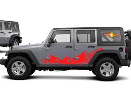 Product Jeep Wrangler Mountain Range Body Side Graphics Kit 2007 2017