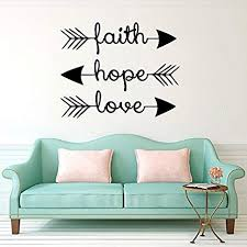 stonges wall decals faith hope love family wall quotes bible