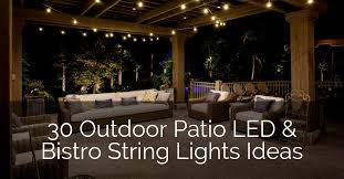 led bistro string lights ideas