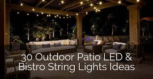 led bistro string lights ideas