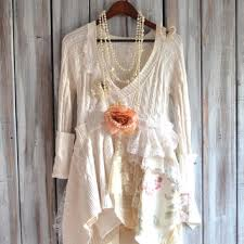 romantic country chic sweater tunic
