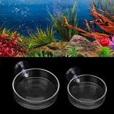 senzeal 2pcs glass shrimp feeding dish