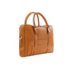 luxury leather briefcase tan aston