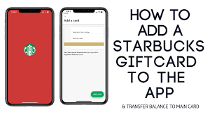 how to add a starbucks gift card to the