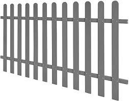 Tidyard Outdoor Wpc Picket Fence Garden Fencing Panel Patio Edging Barrier Door 200x100 Cm Grey Amazon Co Uk Kitchen Home