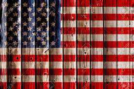 Old Painted American Flag On Dark Wooden Fence Stock Photo Picture And Royalty Free Image Image 20339389