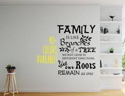 Family Roots Family Tree Wall Decal Wall Decor Nursery Decor Etsy