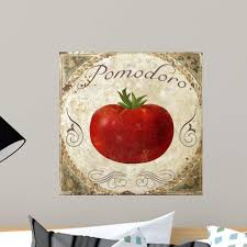 Amazon Com Wallmonkeys Mangia Ii Wall Decal Peel And Stick Graphic Wm106953 18 In H X 18 In W Home Kitchen