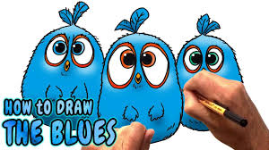 How to Draw The Blues from The Angry Birds Movie (NARRATED) - YouTube