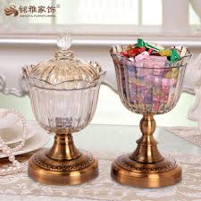 pieces round glass candy bowl