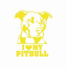 Vova Creative I Love My Pitbull Vinyl Car Sticker Cartoon Dog Window Bumper Animal Car Decal Removable Waterproof