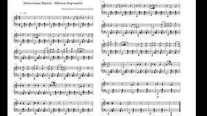 Sloborskaia March - Mission Impossible Sheet music. - YouTube
