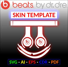 Dr Dre Beats Solo 3 Wireless Skin Wrap Sticker Template Svg Etsy