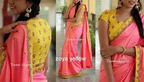 saree blouse sari zoya silk fabric