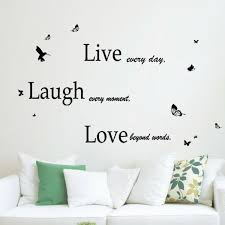 Shop Walplus Classic Live Laugh Love Quote Wall Sticker Home Decor Decal Overstock 31770392