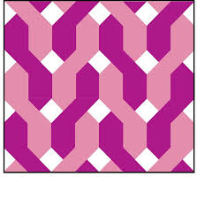 Chain Link Fence 10 Quilt Block E Pattern Pdf Photo Represents A Quilt Made From 6 Full Blocks And 3 Trimmed In 2020 Quilt Block Pattern Quilt Blocks Pattern Blocks