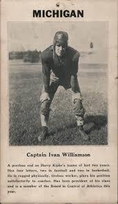 University of Michigan Captain Ivan Williamson Football Arcade Card