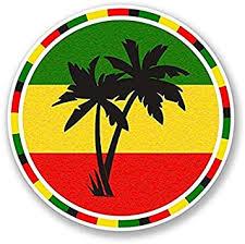 Amazon Com 3 Pack Jamaica Rasta Palm Tree Vinyl Self Adhesive Sticker Decal Sticker Graphic Construction Toolbox Hardhat Lunchbox Helmet Mechanic Luggage Automotive