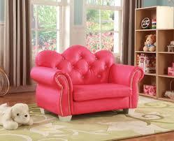 Celine Kids Loveseat Chair In Pink Pu Kids Furniture In Los Angeles