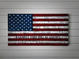 rustic american flag painted wood flag