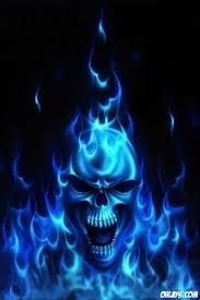 blue skull iphone wallpaper skull