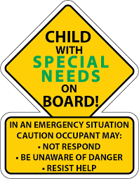 Special Needs Safety Car Truck Decal Sticker Autism Awareness America