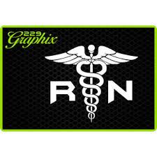 Oracal Rn Caduceus Vinyl Decal Car Truck Boat Window Sticker Medical Symbol Nurse Usa