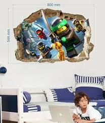 Lego Ninjago Wall Stickers Vinyl Home Mural Decal Art Mural Decor Kids 57x80cm Ebay