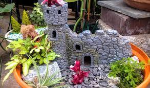 miniature fairy garden green side up