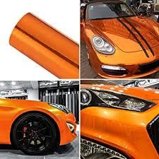 Amazon Com Atmomo Chrome Mirror Orange Car Vinyl Wrap High Gloss Self Adhesive Diy Car Decals Film Sheet 59 8 X 29 5 Automotive