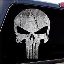 Amazon Com Punisher Skull 11 Die Cut Vinyl Car Decal Sticker For Car Window Automobile Window Car Bumper Truck Laptop Ipad Notebook Computer Tablet Decal Skateboard Motorcycle Automotive