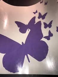 Swarm Of Butterflies Vinyl Window Decal Car Decal Stick Etsy