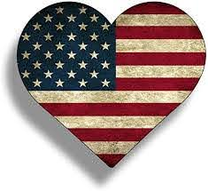 Amazon Com Rustic Heart Sticker American Flag Vinyl Decals Die Cut Car Truck Cup Window Graphic Old Merica Arts Crafts Sewing