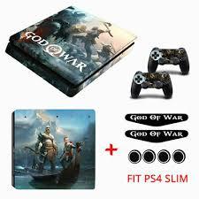 Playstation 4 Slim Decal God Of War Design Theme Ps4 Slim Console Skin Sticker Ebay