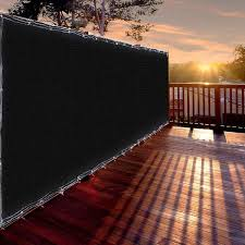 Andyes 4x50 4ft Tall Black Privacy Fence Screen Mesh Windscreen 180gsm Virgin Hdpe Fabric Slat Fencing Shade Cover Wish