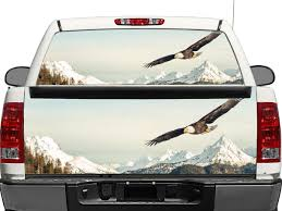 Product Us Bald Eagle Rear Window Or Tailgate Decal Sticker Pick Up Truck Suv Car