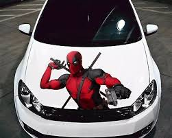 Deadpool Car Hood Comic Graphics Vinyl Stickers Decal Fit Any Auto Ebay