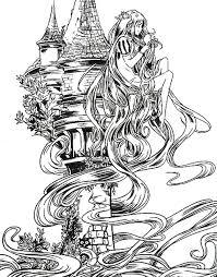 Anti Stress Kleurplaten Prinsessen Rapunzel 15
