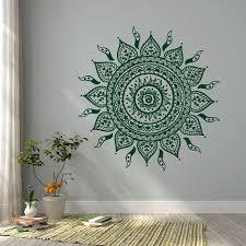 Mandala Wall Decal Sticker Mandala Vinyl Wall Decals Yoga Studio Bohemian Boho Bedroom Mandala Wall Art Manda Mandala Wall Art Vinyl Wall Decals Wall Decals