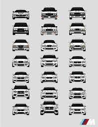 Bmw M Car History Poster Print Wall Art Of All Bmw M Series Etsy Bmw Art Bmw Bmw Car Models