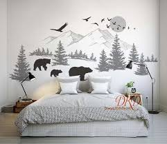 Wall Decal Wall Sticker Mountain Landscape By Dreamkidsdecal On Zibbet