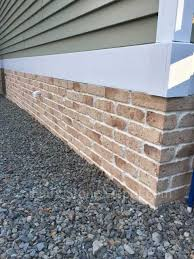 some great use of faux brick siding