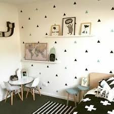 Wall Stickers Triangles Baby Boy Room Little Bedroom Nursery Decal Decorative Ebay