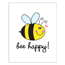 Bee Happy Posters Small Poster By Doubletrouble Cafepress