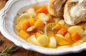 chunky vegetable soup with homemade