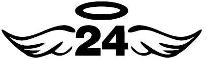 Amazon Com Kobe Wings And Halo 24 Decal Vinyl Sticker Cars Trucks Vans Walls Laptop Black 5 5 X 1 7 In Duc243 Kitchen Dining