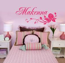 Rose And Name Wall Sticker Personalized Vinyl Wall Decal Girl S Bedroom One Name For Sale Online